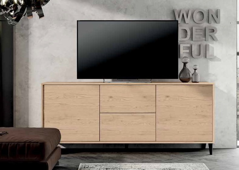 3792842  MADIA IN ROVERE CRUDO PORTA TV
