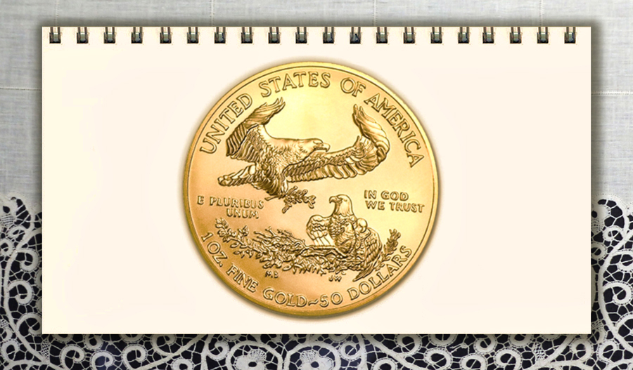 3789821  Moneta in ORO 22K Golden Eagle